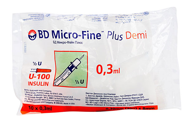 Becton Dickinson Micro-Fine Plus Demi